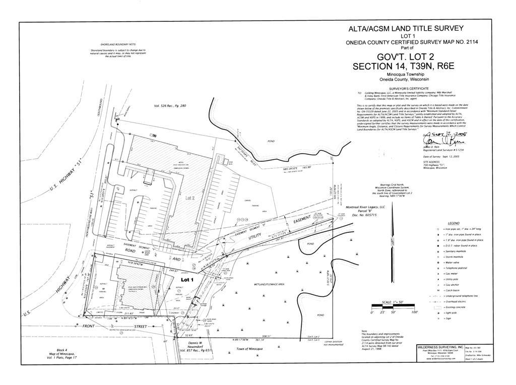 Surveying Services - Property line survey map